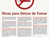Cartaz motivacional para fumantes largarem o vício.
